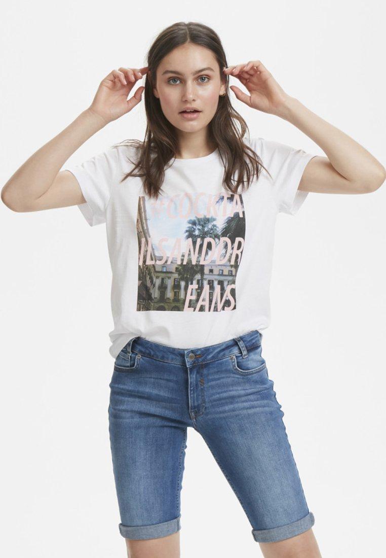 Denim Hunter - DHRIO PHOTO TEE - T-shirt print - optical white