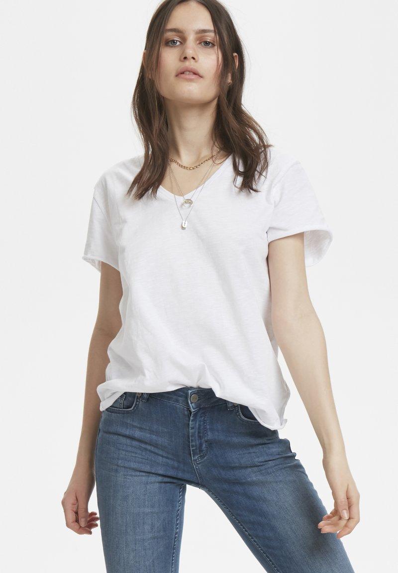 Denim Hunter - VTEE SLUB YARN - Basic T-shirt - optical white