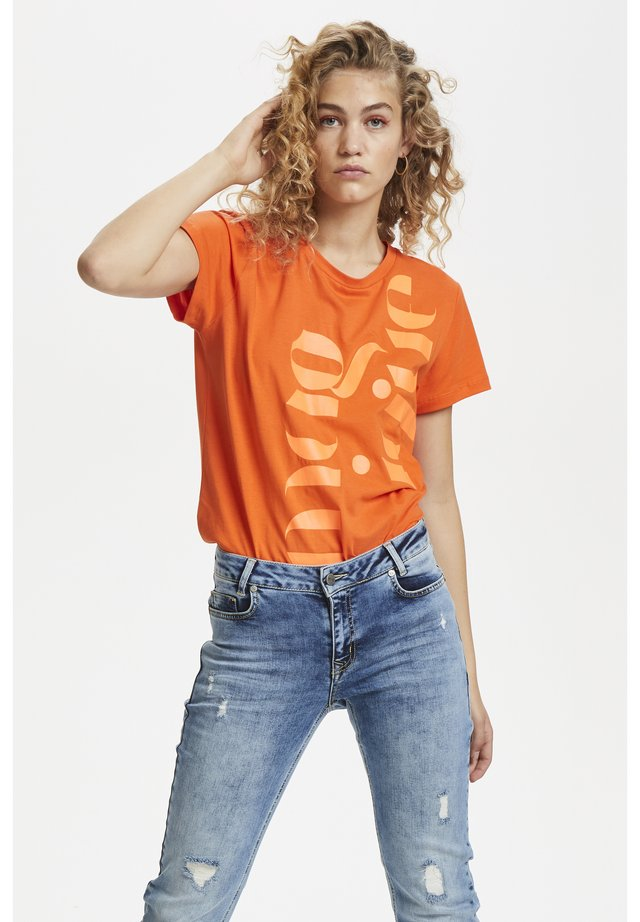 DHRIO MAGIQUE TEE - T-shirt med print - orange