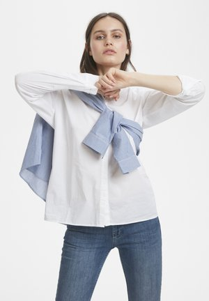 Button-down blouse - optical white