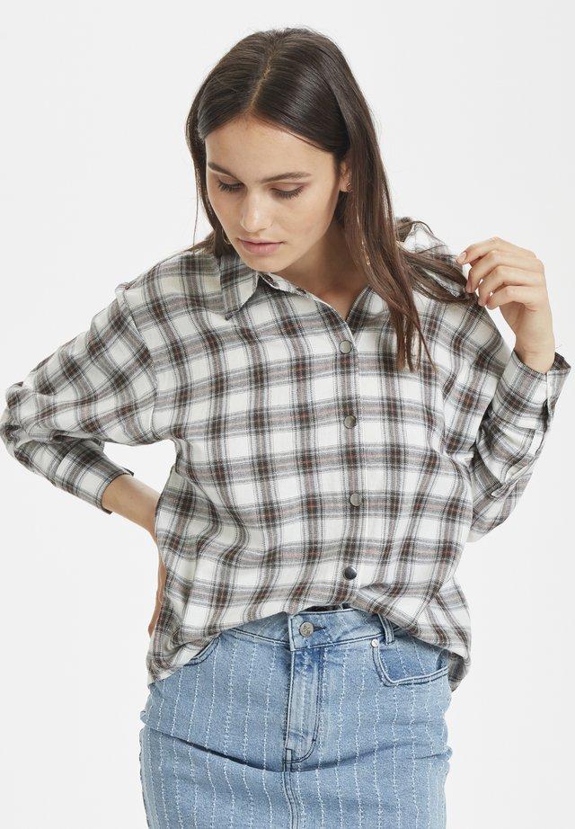 Button-down blouse - pompeian red