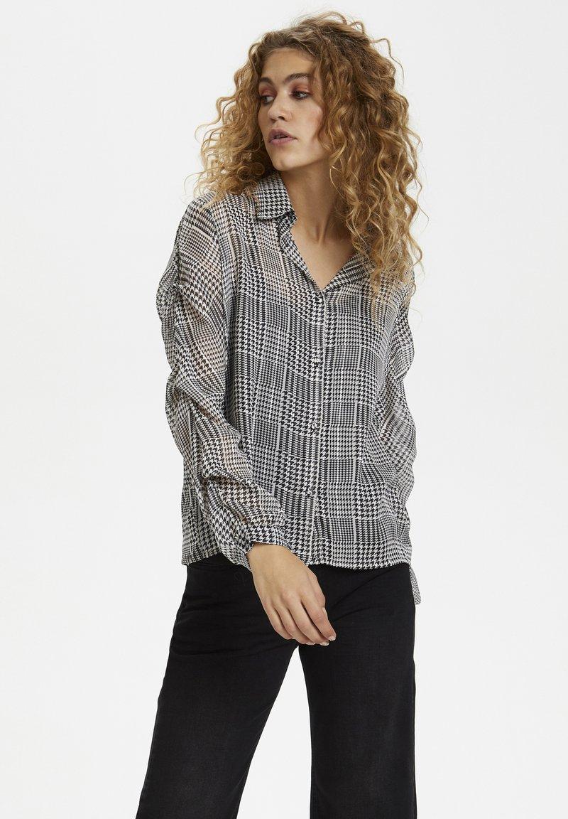 Denim Hunter - Button-down blouse - black