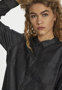 Denim Hunter - Button-down blouse - grey wash - 4