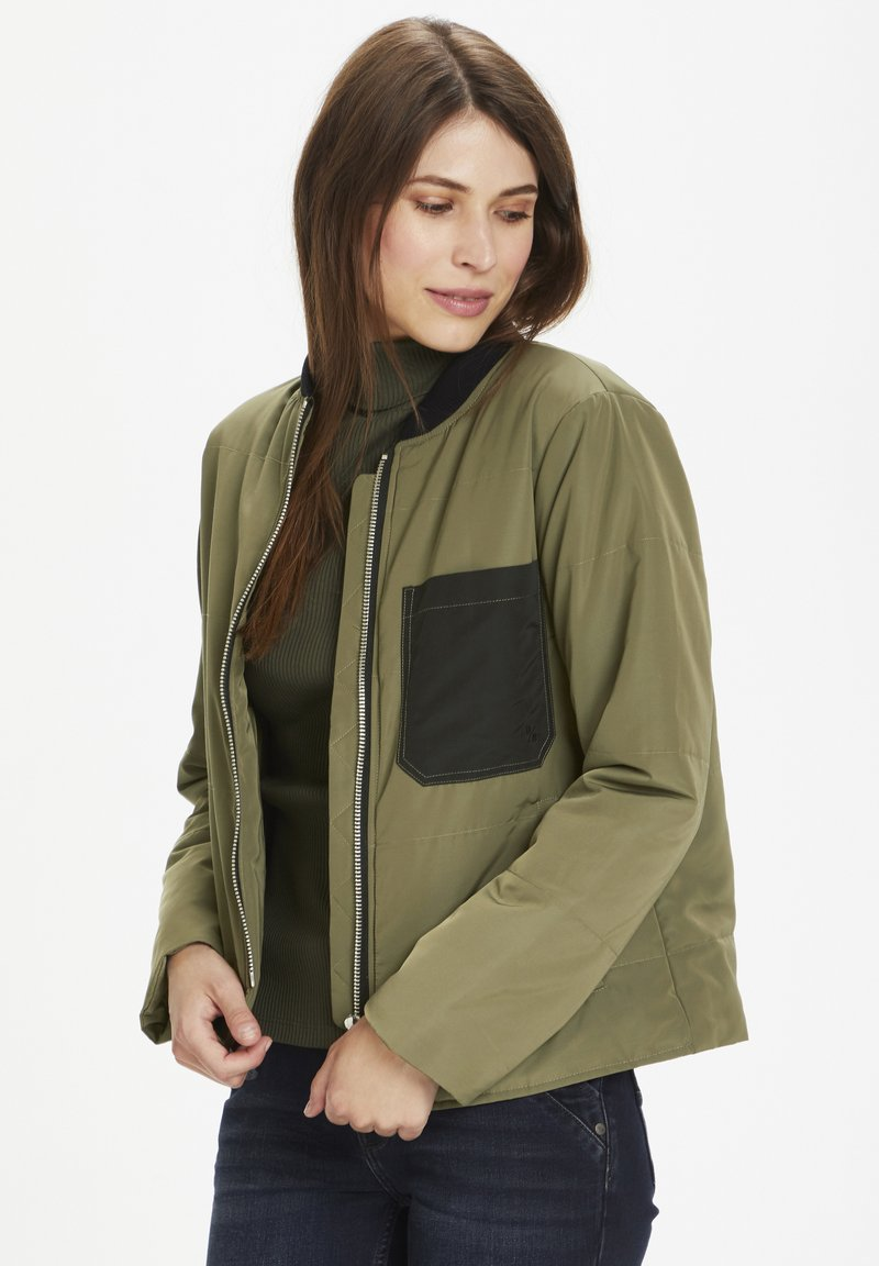Denim Hunter - Bomber Jacket - dusty olive