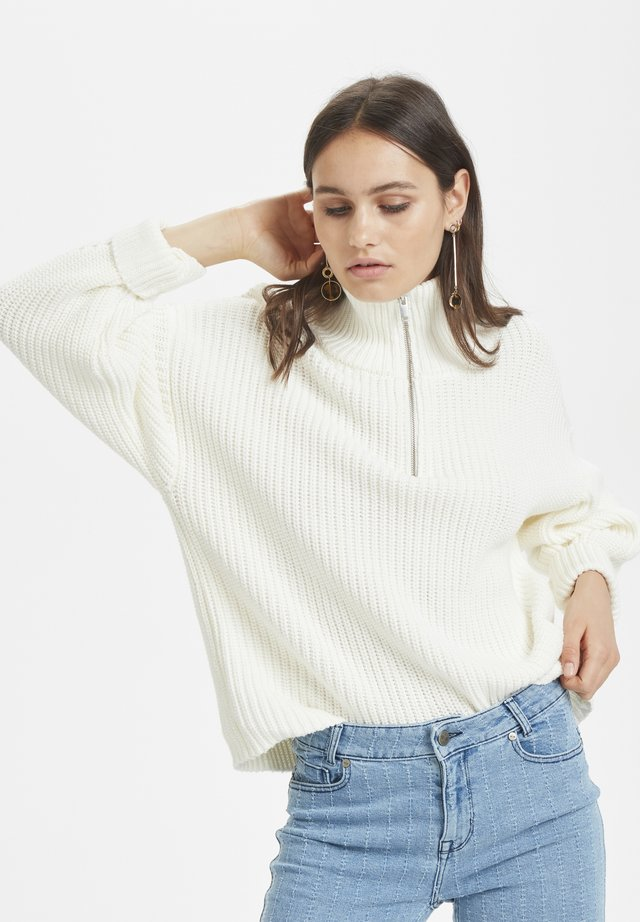 Jersey de punto - whisper white