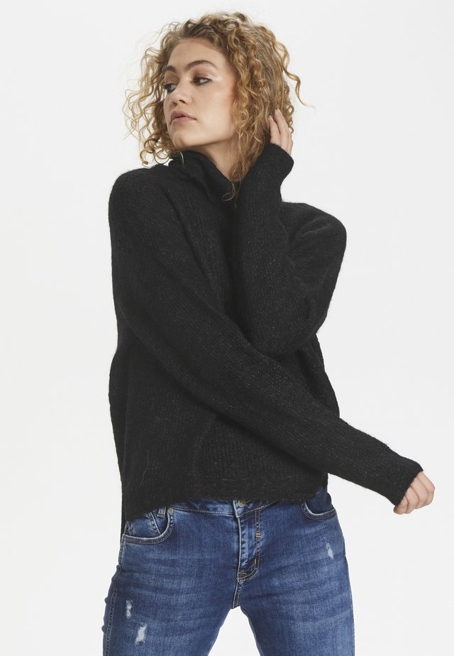 ROLLNECK - Jersey de punto - black