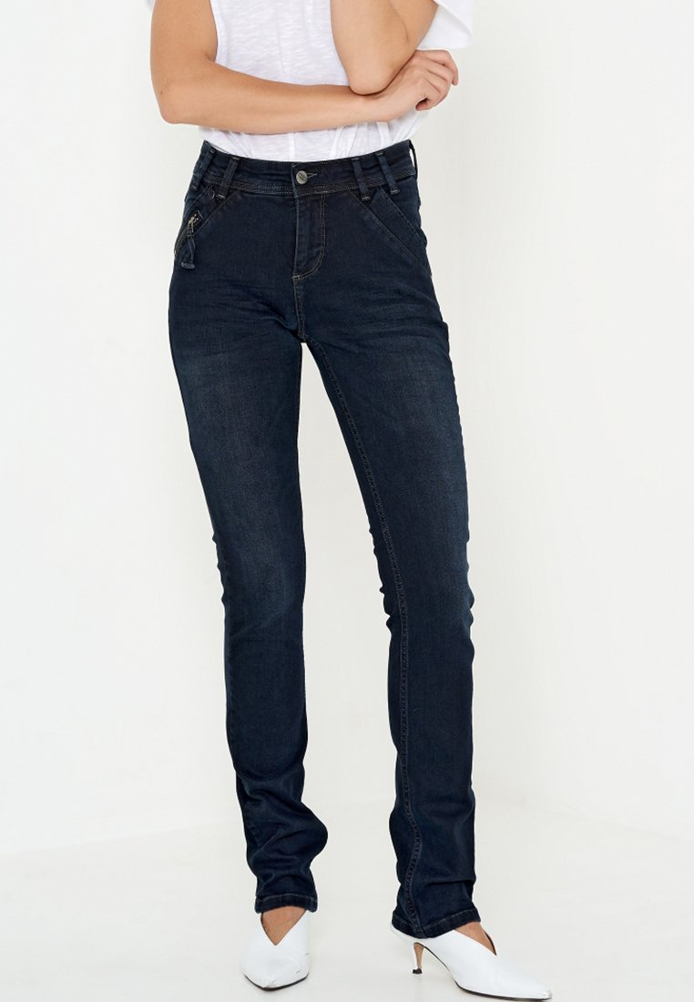Denim Hunter - CAPE HIGH CUSTOM - Straight leg -farkut - blue denim