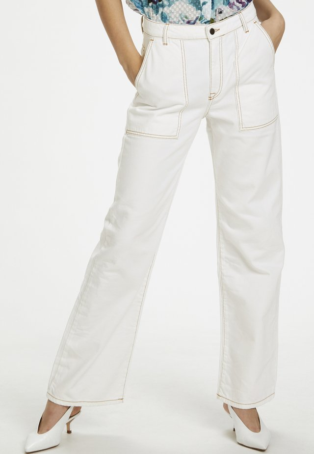 DHDINA - Flared jeans - off white