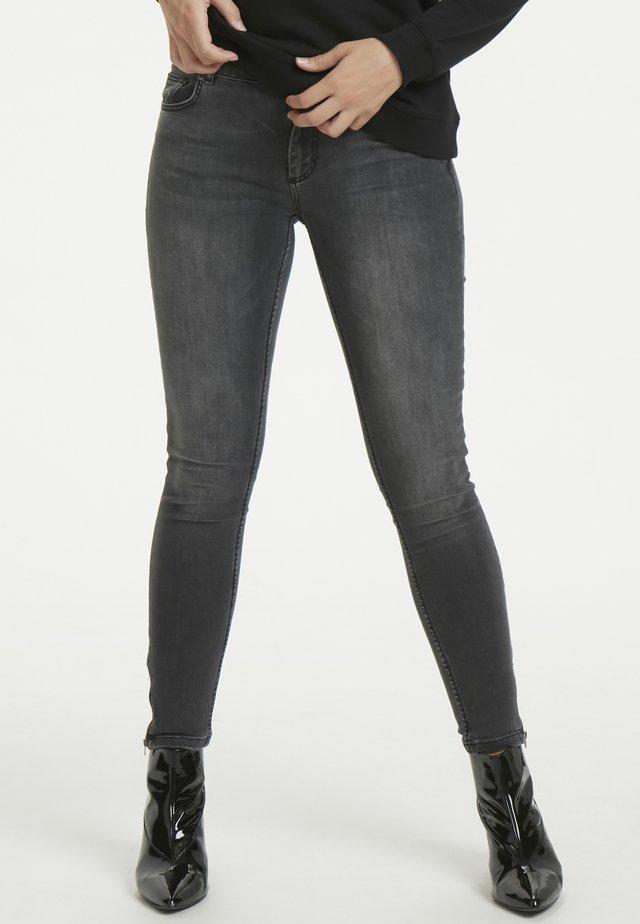 THE CELINAZIP CUSTOM - Jeansy Skinny Fit - medium grey