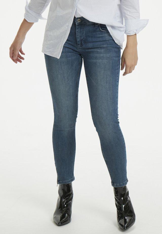 THE CELINAZIP CUSTOM - Jeansy Skinny Fit - medium blue