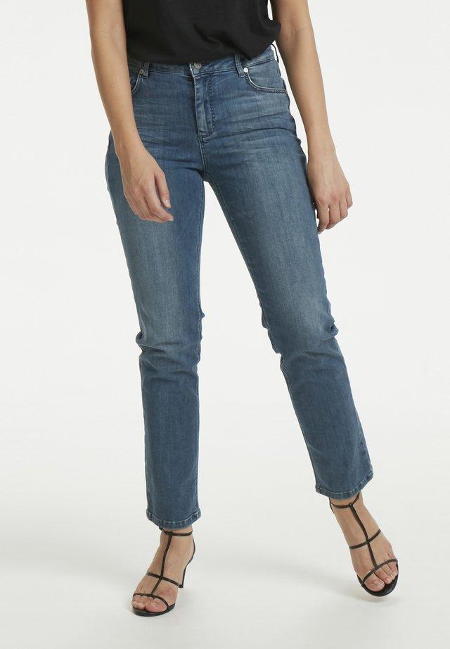 33 THE CELINA HIGH CUSTOM - Jeans straight leg - medium blue vintage wash