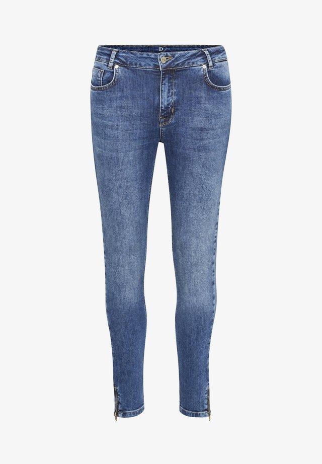 37 THE CILLEZIP HIGH CUSTOM - Jeansy Slim Fit - medium blue wash
