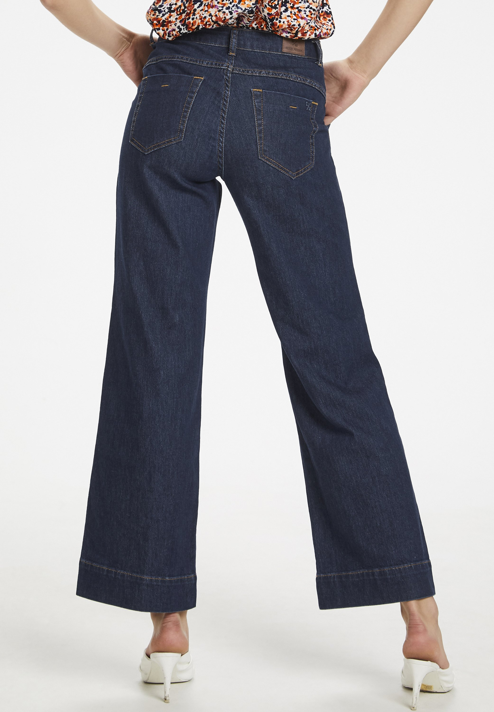 Denim Hunter MAY - Flared jeans - dark blue un-wash