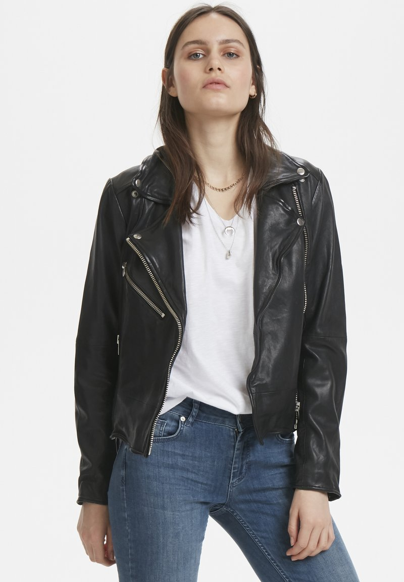Denim Hunter - Leather jacket - black