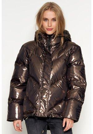 Gewatteerde jas - gold black
