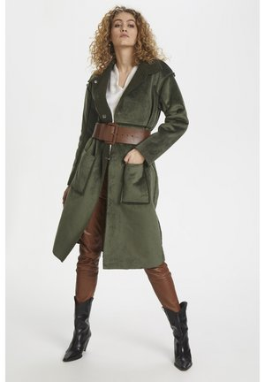 DHBELLE SHEARLING COAT - Mantel - forest night