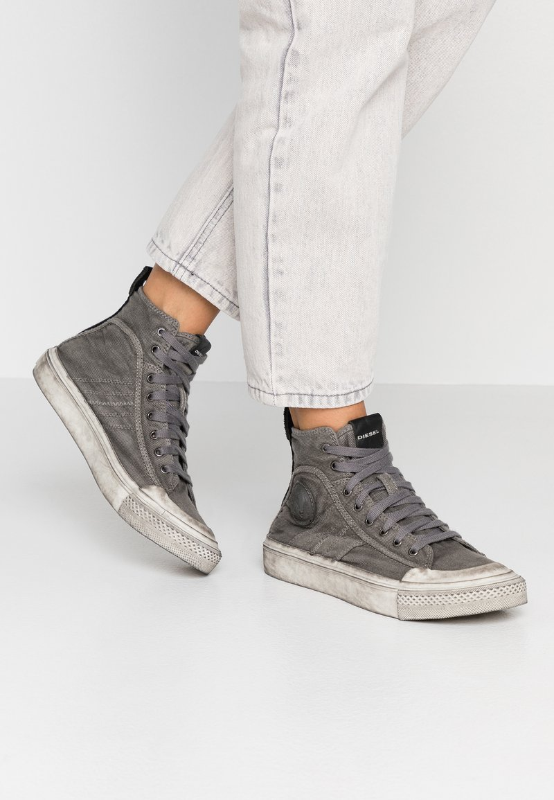 Diesel - ASTICO S-ASTICO MID LACE W - High-top trainers - gunmetal