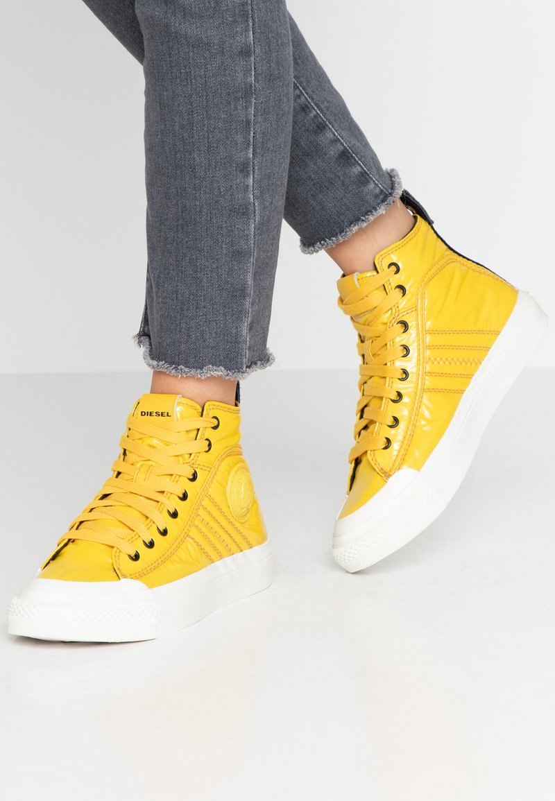 Diesel - ASTICO S-ASTICO MID LACE W - Sneaker high - freesia yellow