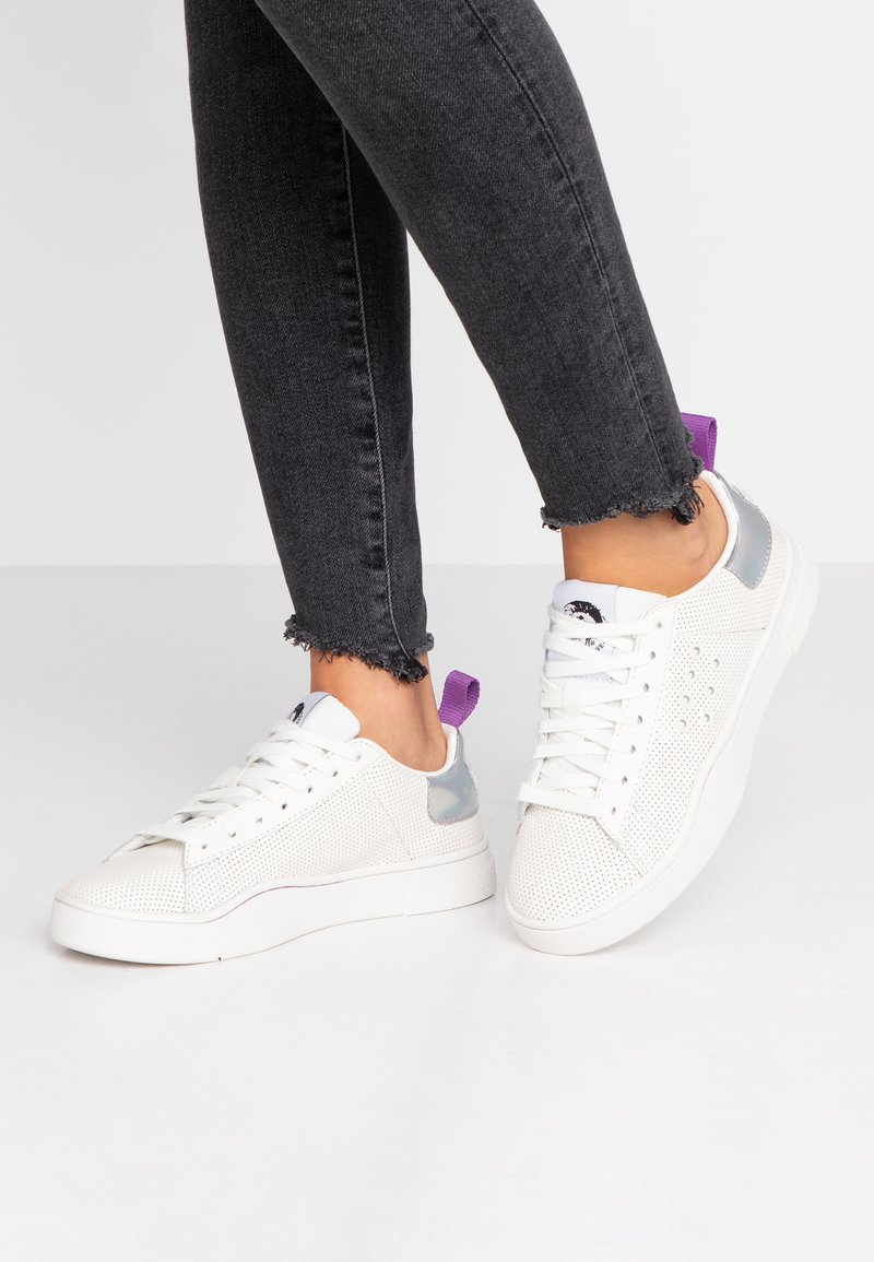Diesel - CLEVER S-CLEVER LC W - Sneaker low - star white/silver