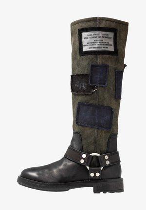 THROUPER D-THROUPER MB W - Cowboy/Biker boots - black