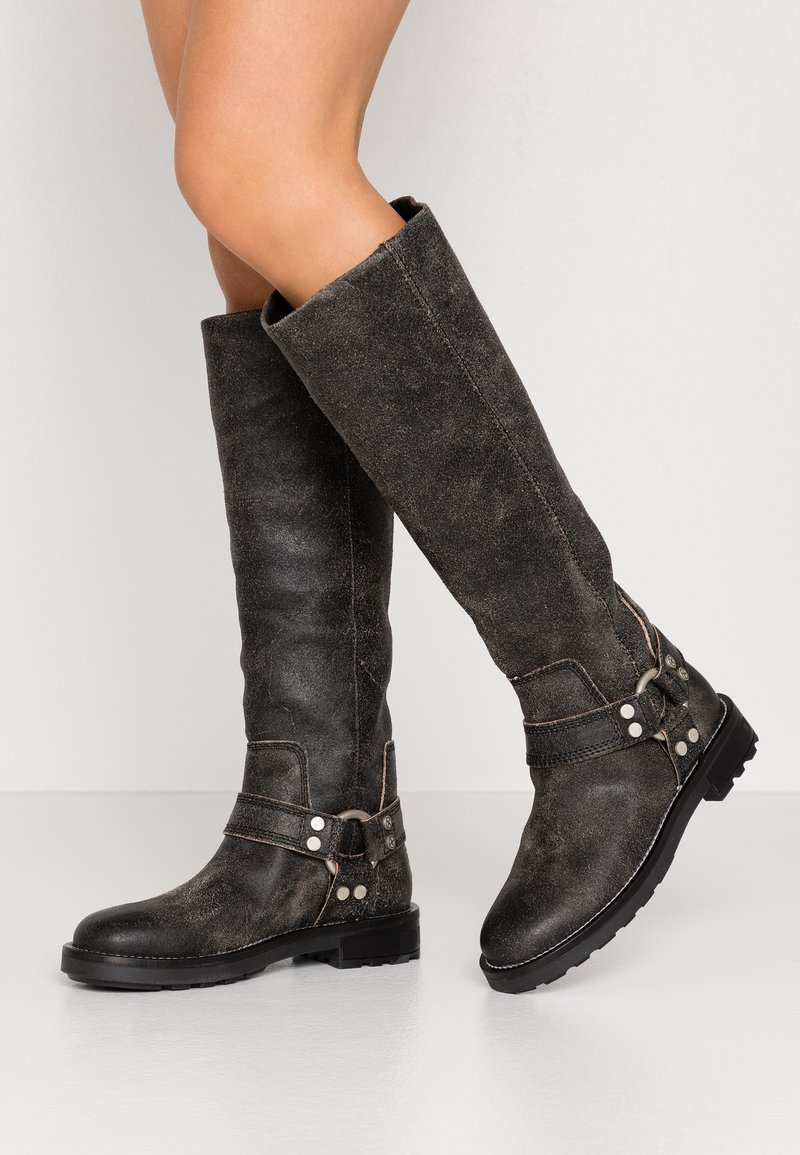 Diesel - THROUPER D-THROUPER MB W - Cowboy/Biker boots - black