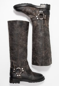 Diesel - THROUPER D-THROUPER MB W - Cowboy/Biker boots - black - 3