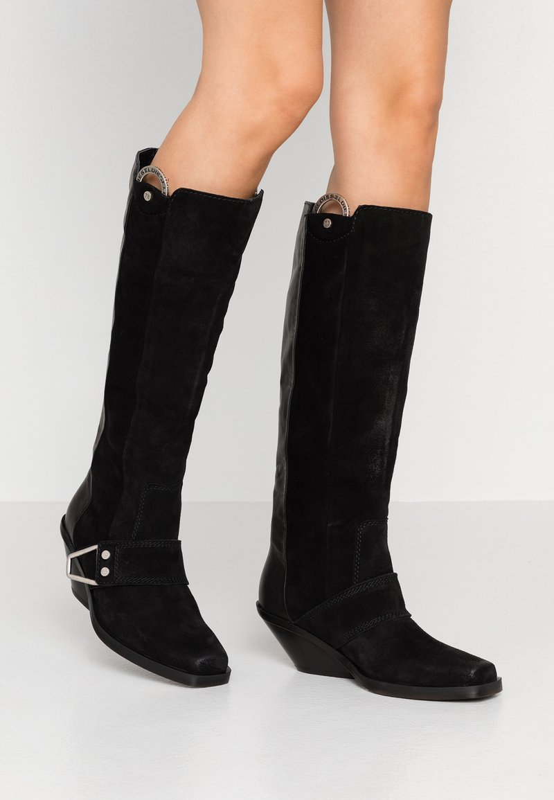 Diesel - GIUDECCA - Cowboy/Biker boots - black