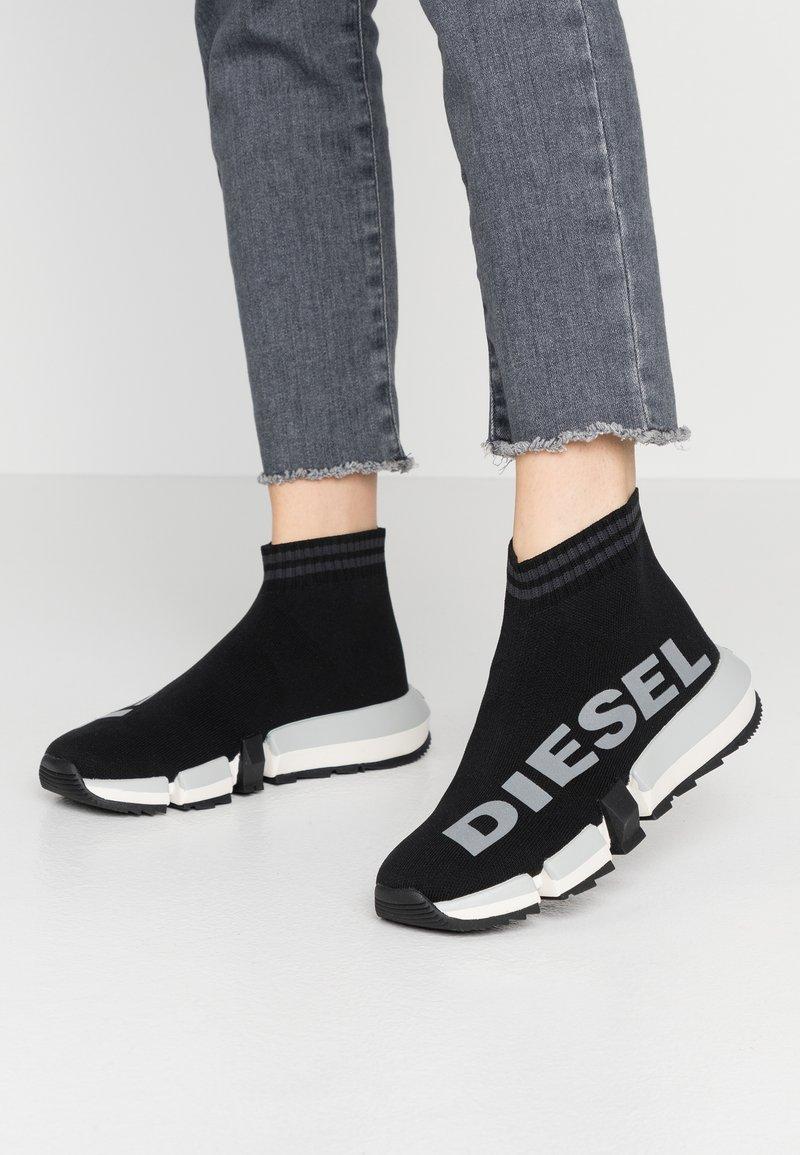 Diesel - PADOLA H-PADOLA MID SOCK W - High-top trainers - black