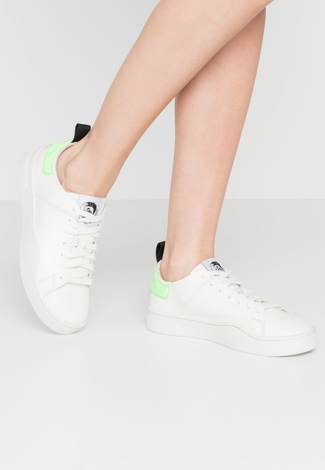 CLEVER S-CLEVER LS W - Sneakers laag - star white/fluo green