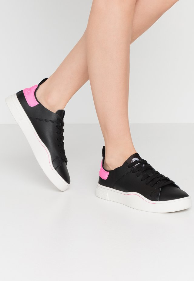 CLEVER S-CLEVER LS W - Sneakers laag - black/fluo pink