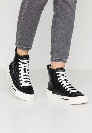 S-DESE MID CUT W - Höga sneakers - black/gunmetal