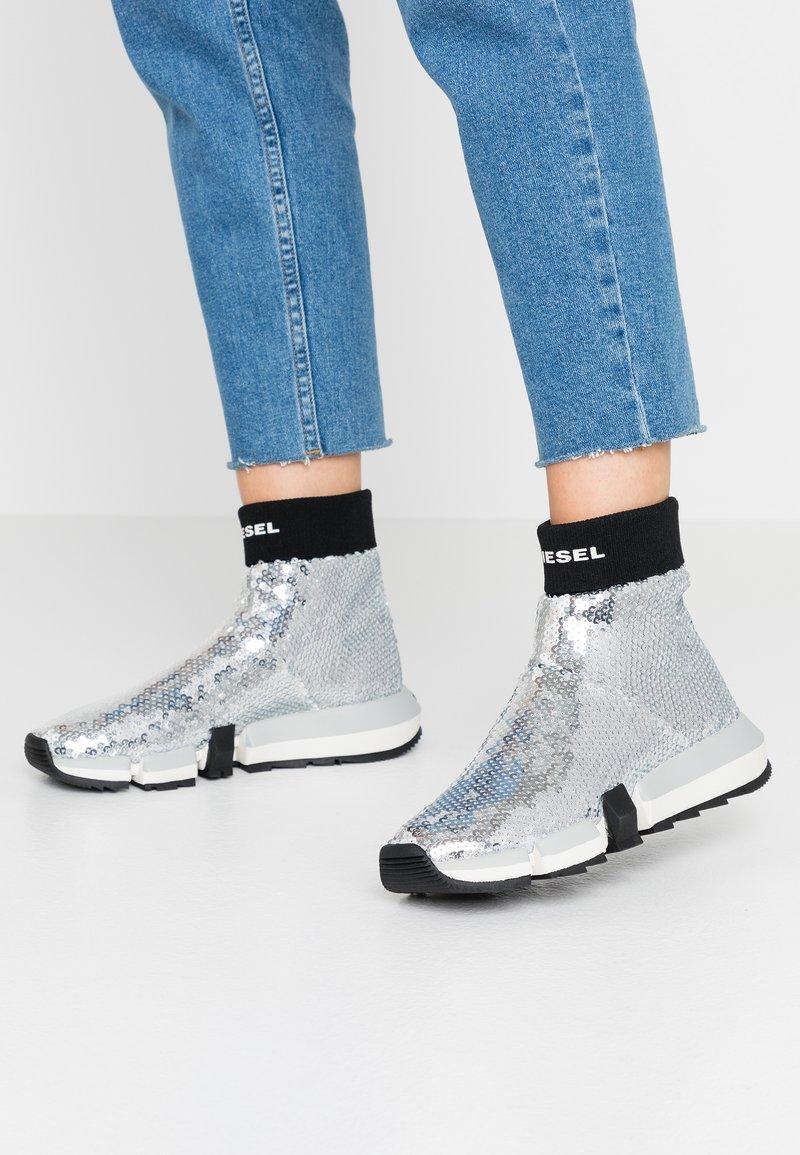 Diesel - PADOLA SOCK - Sneakers hoog - silver