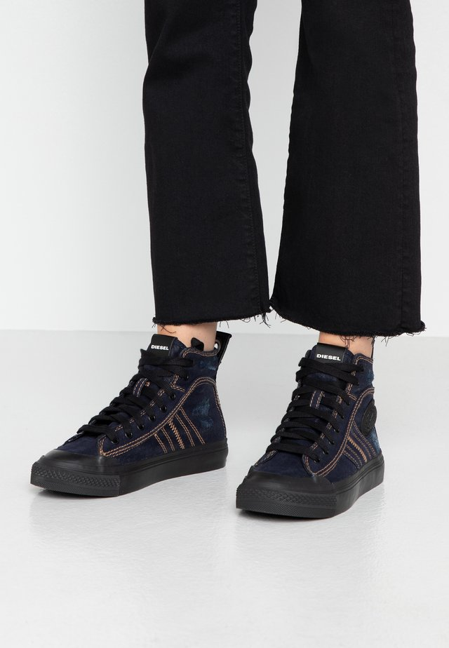 S-ASTICO MID LACE W - Sneakers hoog - dark denim
