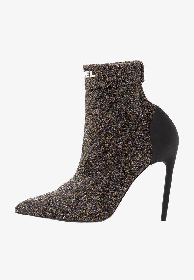 SLANTY D-SLANTY HASM - High heeled ankle boots - schwarz/multicolour