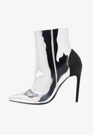 D-SLANTY HABZ - Kotníková obuv na vysokém podpatku - silver