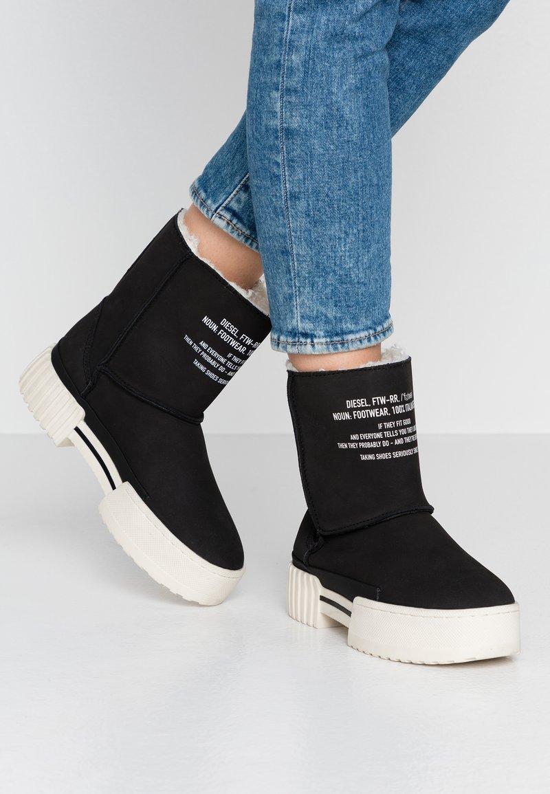 Diesel - MERLEY - Platform ankle boots - black