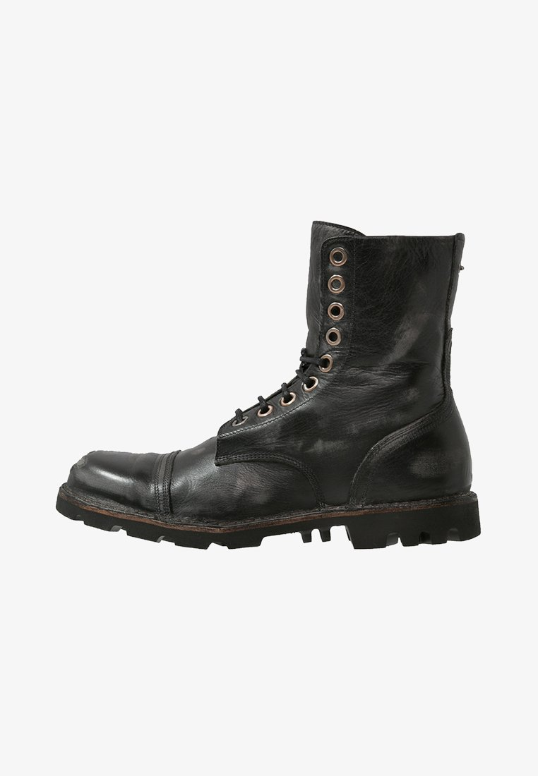 Diesel - STEEL - Šněrovací kotníkové boty - black