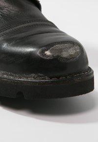 Diesel - STEEL - Šněrovací kotníkové boty - black - 5