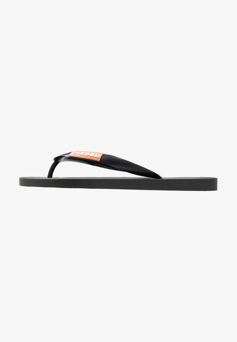 Diesel - SA-BRIIAN - Pool shoes - black/orange popsicle