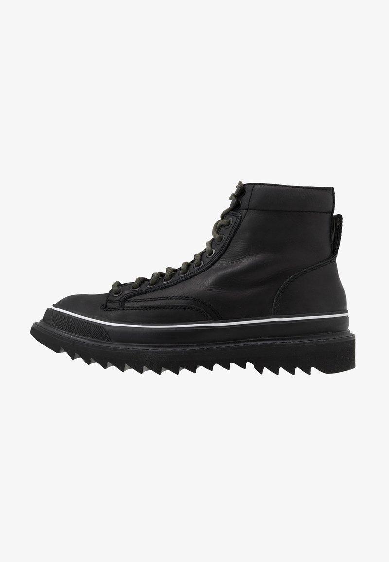 Diesel - H-SHIROKI DMBB - Šněrovací kotníkové boty - black