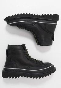 Diesel - H-SHIROKI DMBB - Šněrovací kotníkové boty - black - 1