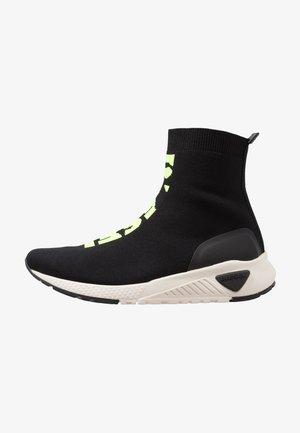 S-KB MID ATHL SOCK - Sneakers hoog - schwarz/neongelb