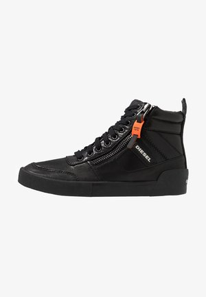 S-DVELOWS MID - Korkeavartiset tennarit - black