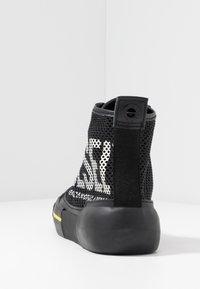 Diesel - S-DESE MID CUT - Baskets montantes - black/yellow fluo - 3