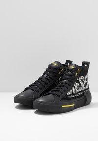 Diesel - S-DESE MID CUT - Baskets montantes - black/yellow fluo - 2