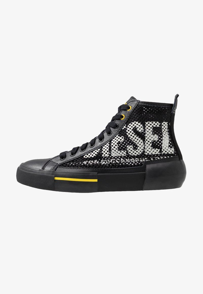 Diesel - S-DESE MID CUT - Baskets montantes - black/yellow fluo