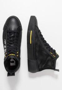 Diesel - S-DESE MID CUT - Baskets montantes - black/yellow fluo - 1