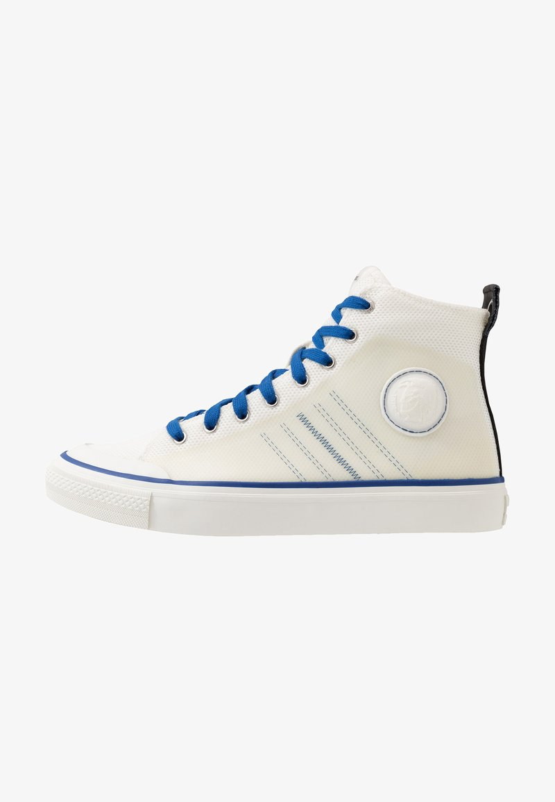 Diesel - S-ASTICO MC H - Korkeavartiset tennarit - star white/true blue