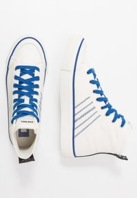 Diesel - S-ASTICO MC H - Korkeavartiset tennarit - star white/true blue - 1