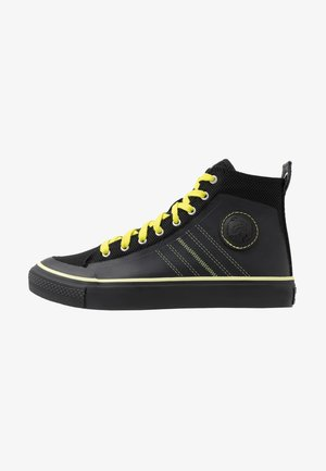 S-ASTICO MC H - Korkeavartiset tennarit - black/sunny lime